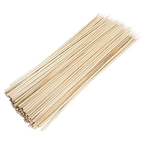 HANTURE 880 palitos de bambú natural de 25,4 cm, pinchos de bambú para barbacoa, aperitivo, fruta, cóctel, Kabob, fuente de chocolate, parrilla, barbacoa, cocina, picnic y fiesta.