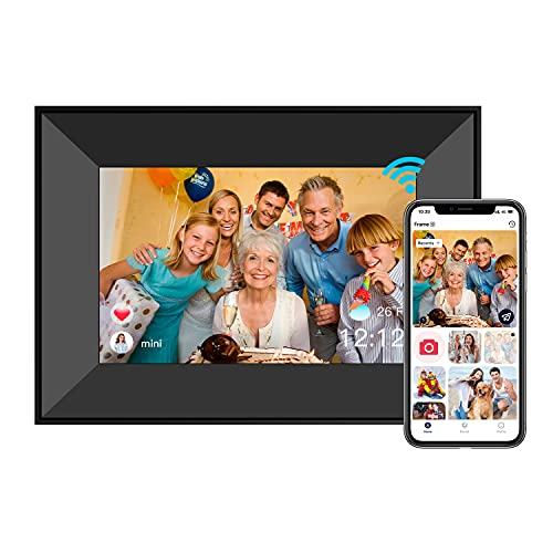 Dreamtimes Smart Digital Picture Frame 8 Inch WiFi Digital Photo Frame with IPS Touch Screen HD Display, 8GB Storage, Auto-Rotate, Easy Setup to Share Photos or Videos Remotely via Free APP (Black)