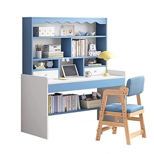 ZBBN Mesa de Estudio para niños Escritorio de computadora elevable para niños, Escritorio para el hogar y estantería para Libros Integrados, Escritorio Simple para Estudiantes de Escuela Primaria