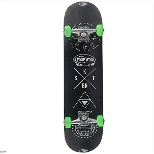 DWEMM Skateboard Komplett Board Funboard 79x20cm Mit 7-lagigem Ahornholz Und ABEC-5 Lager 92 A Rollenhärte,für Kinder, Jugendliche Und Erwachsene, 4 Farben Wählbar