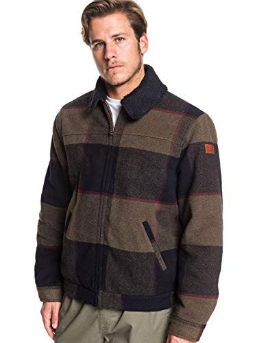Quiksilver Mens Hurry Down - Sherpa Collar Zip-Up Jacket for Men Sherpa Collar Zip-Up Jacket