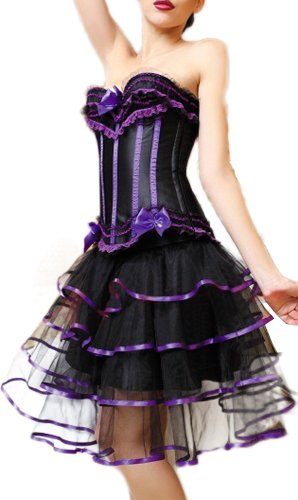 r-dessous Corsagekleid Corsage Kleid Mini Rock Korsett Bustier Bandeau Korsage Groesse: XL