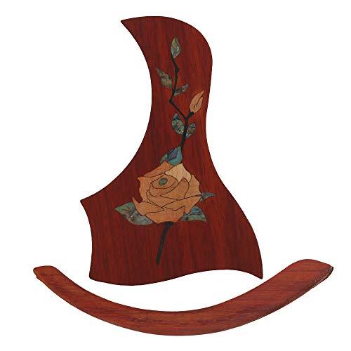 BQLZR Gitarrenplektrum, 101,6-104,1 cm, Pfingstrosenmuster, selbstklebend, Armauflage für Gitarre