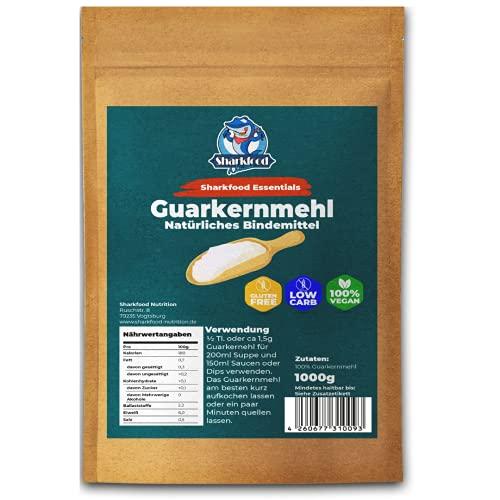 Hochwertiges Guarkernmehl 1 KG - Guar Gum Powder geeignet für Keto & Low Carb - Bindemittel Verdickungsmittel E412 Pulver - Guarkern Mehl 1000 g