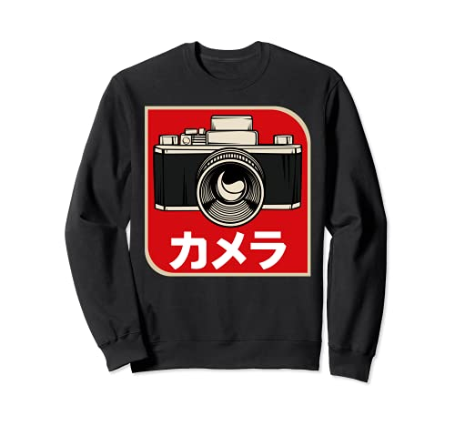 Vintage Japonés Retro Camera Fotograf Foto películas Sudadera