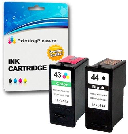 2 Cartuchos de Tinta compatibles para Lexmark X4800, X4850, X4875, X4950, X4975, X4975ve, X6570, X6575, X7550, X7675, X9350, X9575, P350, Z1520 | Reemplazo para Lexmark 44 & 43