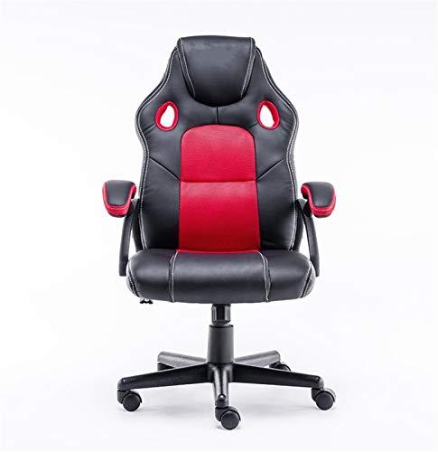 LQCHH Silla giratoria y ergonómica del Juego con sillón, Silla de Oficina para Jugadores, computadoras de Escritorio, Adultos y niños (Color : Red)