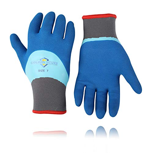 2 Pairs Winter Work Gloves Waterproof Freezer Fleece-Lined with Tight Grip Palms Extreme Cold Work Gloves (Medium/Size 8)…