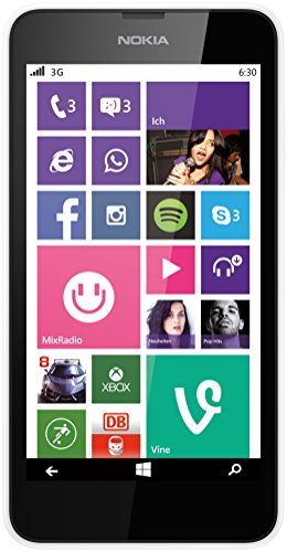 Nokia Lumia 630 Single-SIM Smartphone (4,5 Zoll (11,4 cm) Touch-Display, 8 GB Speicher, Windows 8.1) weiß