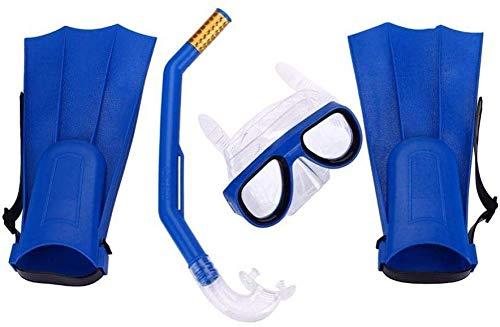 Moradiya Fresh Snorkeling Diving Mask Fins Flippers 3pcs Snorkels Set Kit Sport Training Snorkeling Equipment Diving Mask Snorkel Set_Blue