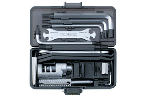 Topeak Unisex-Adult Survival Gear Box 30 Funktionen Mini-Tool, Grey, One Size