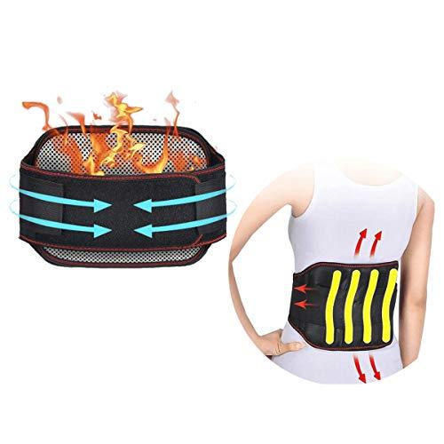 """Rückenstütze, Rückenbandage für die Lendenwirbelsäule Rückenstützgürtel für Lindert Schmerzen, Verstellbarer Taillen Trimmer Gürtel Doppelverschluss, Geeignet für Taillenumfang 35\""""-38\"""""""