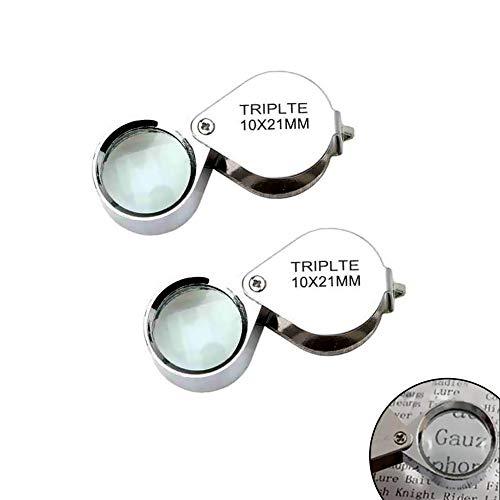 Juwelier Vergrößerungsglas 2 Stücke 10x21mm Schmucksache -Diamant-Dreiergruppe Juwelier-Lupen-Vergrößerungsglas -Lupe