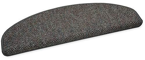 YPSILON Stufenmatte Astor 75x24cm Multicolor-Schlinge halbrund (grau)