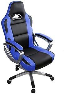 IntimaTe WM Heart Sedia ufficio sedia gaming Sedia Girevole Direzionale Da Ufficio E Da Casa Schienale Alto Ergonomico Cuoio Di PU Sedia Del Gioco Sedia Del Computer (blu)