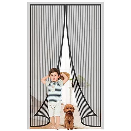 Fliegengitter Tür Magnet Fliegengitter Balkontür 90x210cm, Fliegengitter Magnet Balkontür Insektenschutz Tür, Fliegenvorhang Insektenschutztür ohne Bohren, inkl. Heftzwecke&Klebemontage(MEHRWEG)