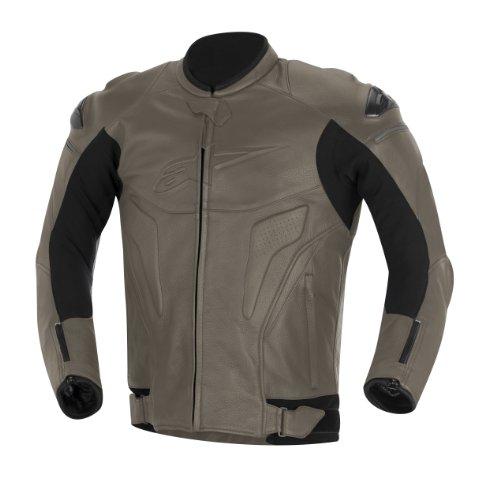 Alpinestars Black Shadow Phantom - Chaqueta de cuero (talla 54), color gris