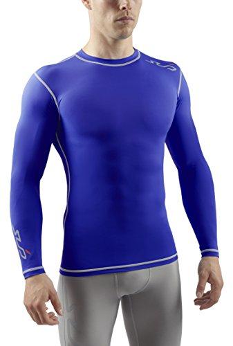 SUB Sports DUAL T-shirt de Compression Manches Longues Homme - Bleu royal - L
