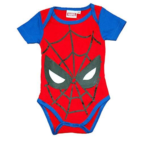 Spider-Man - Body para Bebe -Ropa Avengers Recién Nacido (0-3)