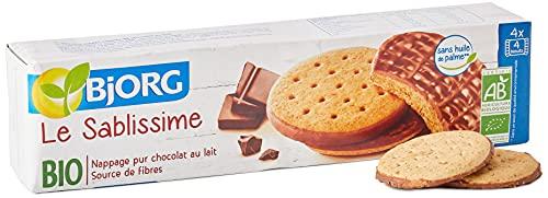Bjorg Le Sablissime Chocolat au lait - Biscuits bio au blé complet – 200 g