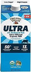 Organic Valley Ultra, Ultra-Filtered Organic 2% Reduced Fat Milk - 56 oz Carton