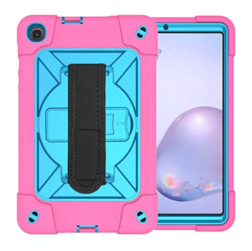 MOYOFEE JYMD AYYD for Samsung Galaxy Tab A8.4 (2020) T307 Contraste Robot de Color Silicon + PC Funda Protectora con Soporte y Ranura de bolígrafo (Color : Rose Red Blue)