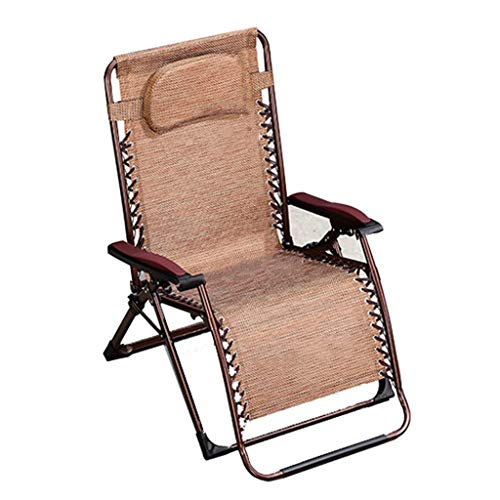 LKH Chaise Zero Gravity, Fauteuil inclinable Confortable, Chaise Longue extérieure, canapé de Loisirs à la Maison, possibilité d'Utilisation de Quatre Saisons