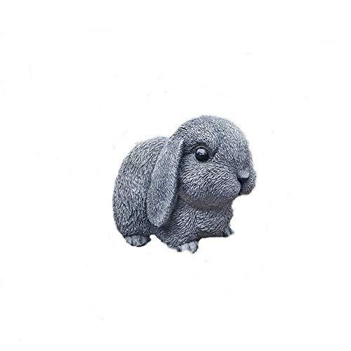 Steinfigur Hase Kaninchen Osterhase Garten Deko Gartenfigur Frostfrei Tierfigur Steinguss
