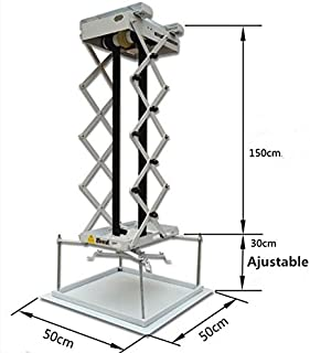 MXBAOHENG 1.5m Projector Bracket Motorized Electric Lifter Projector Lift Hanger Remote Control Hanging Bracket 220V or 110V