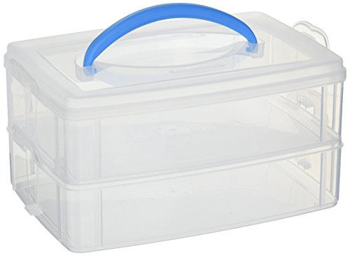 Snapware Snap 'N Stack Portable Organizer (6.9-Inches by 9.7-Inches, BPA Free Plastic)