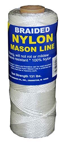 T.W Evans Cordage Co. 12-250 Number-1 Braided Nylon Mason Line, 250-Feet