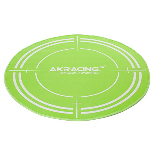 AKRACING AK-FLOORMAT-GN Vert Polyester, Caoutchouc protection de surfaces - Protections de surfaces (995 mm, 995 mm, 1020 mm, 140 mm, 140 mm)