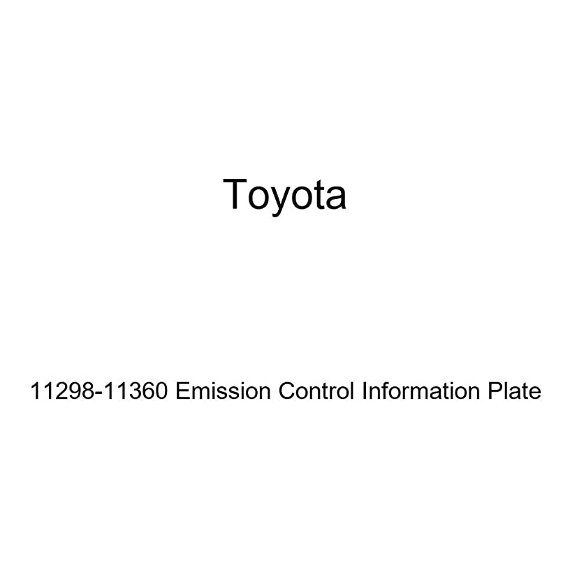 Genuine Toyota 11298-11360 Emission Control Information Plate