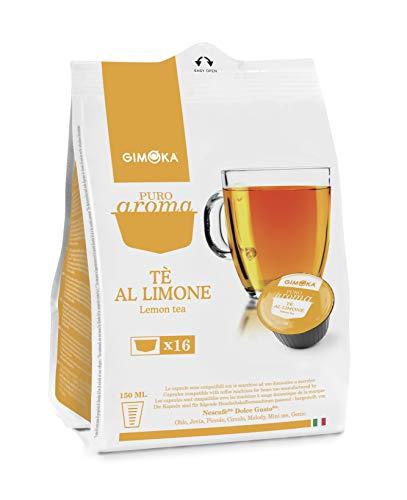 Gimoka - Capsule Compatibili Nescafè Dolce Gusto, Gusto Tè al Limone - 16 Capsule