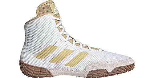 adidas Men's Tech Fall 2.0 Wrestling Shoe (White/Vegas Gold, 9.5)