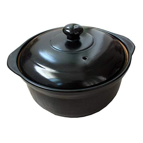 LIUSHI Cazuela Utensilios de Cocina Horno holandés para el hogar con Tapa Cazuela Cerámica Resistente a Altas temperaturas Quema en seco sin agrietarse