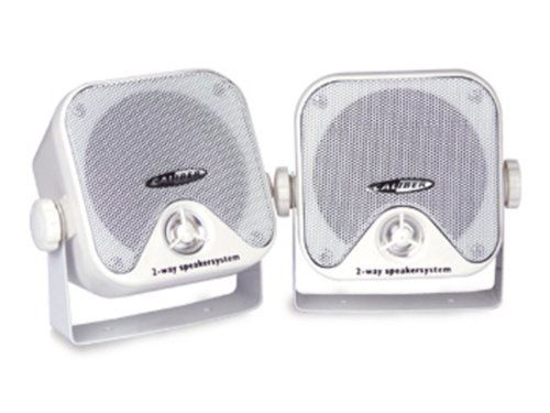 Amazing Deal Caliber CSB3M Water Resistant 2-Way Speaker Set Marine with Mounting Brackets