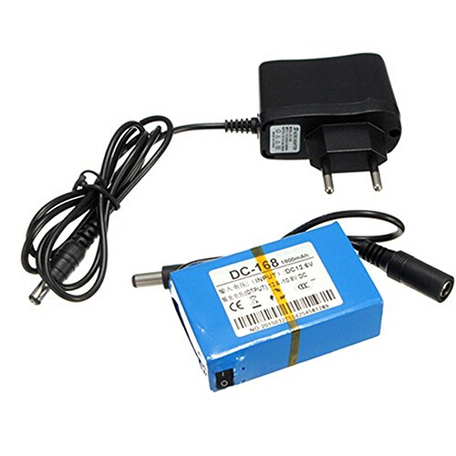 Eleoption - DC-168,CD 12V, 1800mAh - Batería para cámara CCTV inalámbrica, monitor para bebé