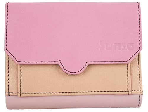 Sunsa Geldbörse für Damen Kleiner Leder Geldbeutel Portemonnaie Brieftasche mit viele Kreditkarten Fächer Geldtasche Wallet Purses for Women das Beste Gift kleine Geschenk