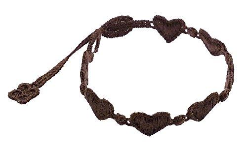 Cruciani Armband Herzen für Damen und Herren - Makramee Spitze