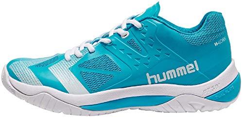 hummel Unisex DUAL Plate Power Handballschuhe, Türkis (Hawaiian Ocean 7060), 43 EU
