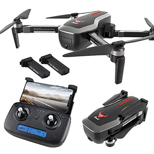 Dron GPS con cámara 4K HD para Adultos, Dron GPS Plegable, Transmisión en Tiempo Real WiFi FPV 5G, Tiempo de Vuelo de 50 Minutos (25 + 25), Cuadricóptero RC Drone con Maleta One Key Return