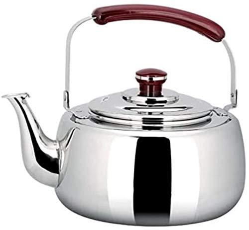 Tetera de cristal de 4 litros de acero inoxidable para cocina de inducción, juego de té de gas natural