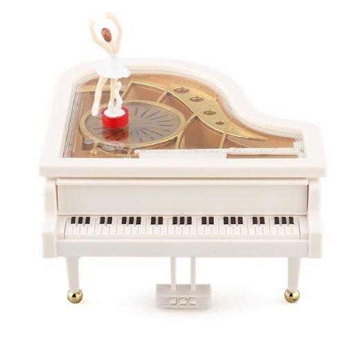 MAYMII Mechanical Classical Ballerina Girl on The Piano Music Box
