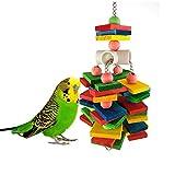 SNOWER Chew Toy Gran Loro, para Bird Macaw del Gris Africano Amazon Cockatoo Eclectus Periquitos Periquito, Agapornis Jaula Grande de Madera del Juguete
