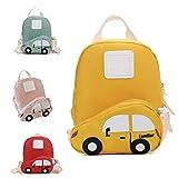Juego de mochila infantil de dibujos animados para coche, de nailon, para jardín de infancia Amarillo amarillo small