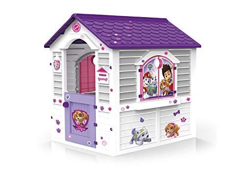 Chicos - Patrulla Canina Skye Casita Infantil de Exterior, Blanca con tejado púrpura (La Fábrica de Juguetes 89536)