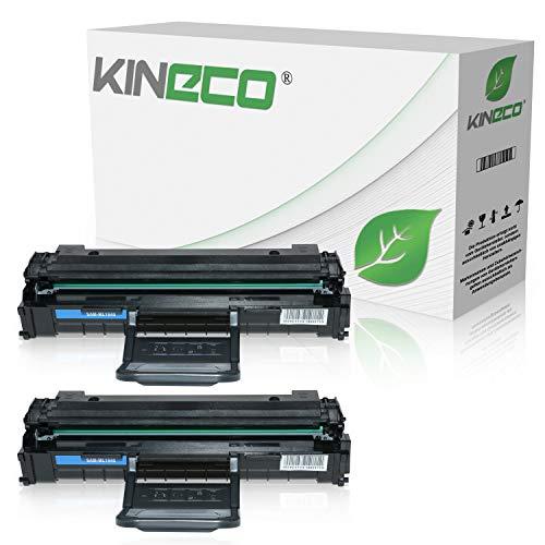2 Toner kompatibel zu Samsung ML-1640 ML1640 ML-2240 ML-2241, ML-1641, ML-1645 - MLT-D1082S/ELS - Schwarz je 1.500 Seiten