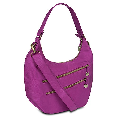 Travelon Convertible Hobo with RFID Protection - Magenta
