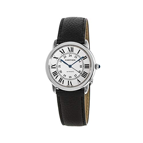 Cartier Ronde Solo reloj automático para mujer con esfera opalina plateada WSRN0021